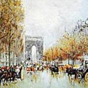 Les Champs Elysees Poster
