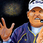 Les Miles Clapping Poster by Terry J Marks Sr