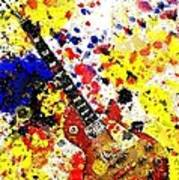 Les Paul Retro Abstract Poster
