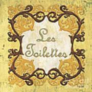 Les Toilettes Poster by Debbie DeWitt