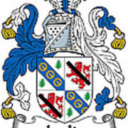 Leslie Coat Of Arms Irish Poster