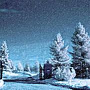 Let It Snow Blue Version Poster