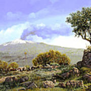 l'Etna  Poster by Guido Borelli