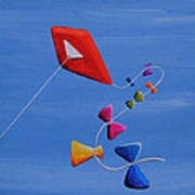 Let's Go Fly A Kite Poster by Cindy Thornton