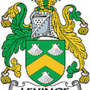 Levinge Coat Of Arms Irish Poster