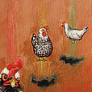 Levitating Chickens Poster