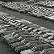Leyland Cars Stockpiled As Sales Slump Poster