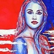 Liberty American Girl Poster