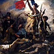 Liberty Leading The People During The French Revolution Poster