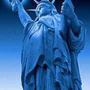 Liberty Shines On In Blue Poster
