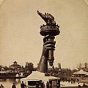 Liberty Torch At Philadelphia For Us Centennial 1876 Poster