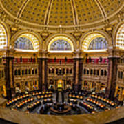 Library Of Congress Main Reading Room Poster