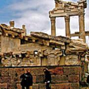 Library On The Pergamum Acropolis-turkey Poster