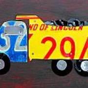 License Plate Art Dump Truck Poster