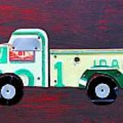 License Plate Art Pickup Truck Poster