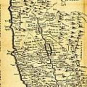 Liebauxs Map Of The Holy Land 1720 Poster