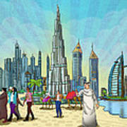 Life In Dubai Poster