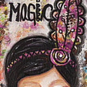 Life Is Magic Uplifting Collage Painting Poster