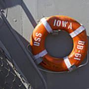 Life Ring Uss Iowa Battleship Poster