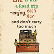 Life Typography-baggage Poster