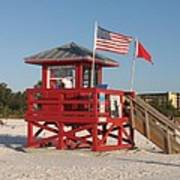 Lifeguard Siesta Beach Poster