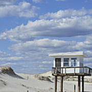 Lifeguard Station Island Beach State Park Nj Poster
