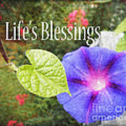 Lifes Blessings Poster by Eva Thomas