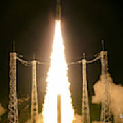 Liftoff Of Vega Vv06 With Lisa Poster
