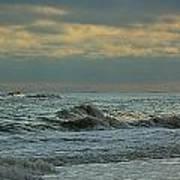 Light Blue Waves Poster