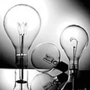 Light Bulbs Poster