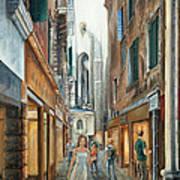 Light From San Salvador Merceria Del Capitello San Marco Venezia Poster