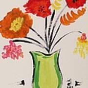 Light Green Vase Poster