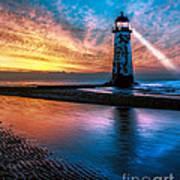 Light House Sunset Poster