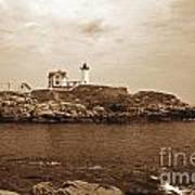 Light On The Nubble Poster by Skip Willits