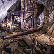 Light Painting In A Gold Mine 2 Poster