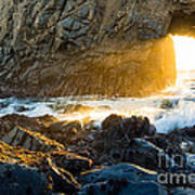Light The Way - Arch Rock In Pfeiffer Beach In Big Sur. Poster by Jamie Pham