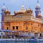 Lighted Golden Temple Poster