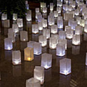 Lighted Lantern Bags Poster