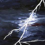 Lightening Bolt Painting Fine Art Print Poster