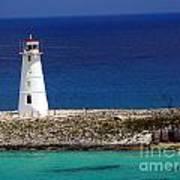 Lighthouse Along Coast Of Paradise Island Bahamas Poster