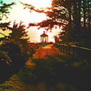 Lighthouse At Dusk Poster