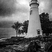 Lighthouse At Marblehead Poster