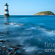 Lighthouse At Penmon Point Poster