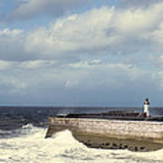 Lighthouse At Whitehaven Poster