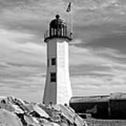 Lighthouse Black And White Poster