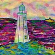 Lighthouse Digital Color Poster
