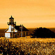 Lighthouse In Autumn Poster
