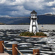 Lighthouse In Lake Dillon Poster