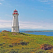 Lighthouse In Louisbourgh-ns Poster