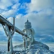 Lighthouse In Saint Joseph Michigan Poster